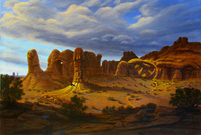 Wall Art - Painting - Arches And Feathers by Mark Junge