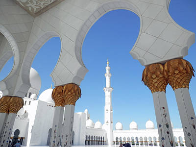 Photograph - Arches And Minaret by Pema Hou
