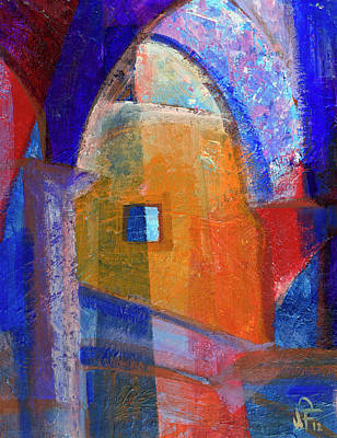 Painting - Arches And Window by Walter Fahmy