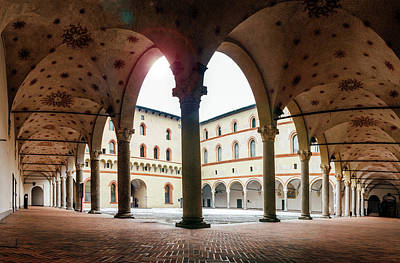 Photograph - Arches At Sforzesco Castle In Milan, Italy by Alexandre Rotenberg