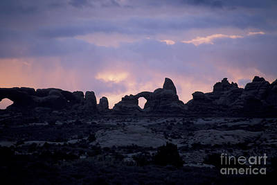 Photograph - Arches Before Dawn by Stan and Anne Foster
