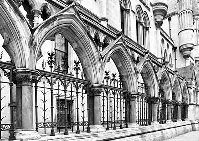 Photograph - Arches Front Of The Royal Courts Of Justice London by Shirley Mitchell