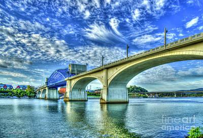 Photograph - The Arches John Ross Market Street Bridge Historic Chattanooga Tennessee Art by Reid Callaway