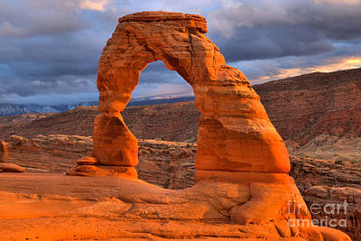 Photograph - Arches Magnificent Sunset by Adam Jewell