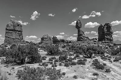Photograph - Arches National Park Balanced Rock Wide by John McGraw