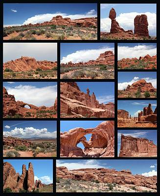 Photograph - Arches National Park Black Background by Mary Bedy