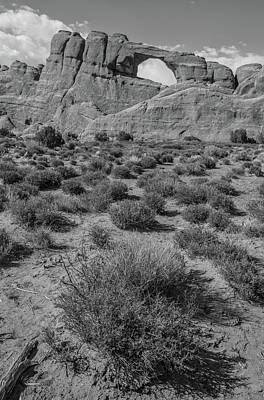 Photograph - Arches National Park Broken Arch And Landscape  by John McGraw