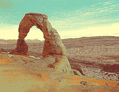 Park Scene Painting - Arches National Park by Celestial Images