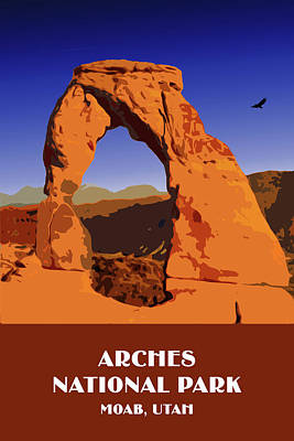 Digital Art - Arches National Park by Chuck Mountain