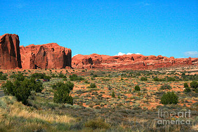 Colorful Cloud Formations Painting - Arches National Park In Moab, Utah by Corey Ford