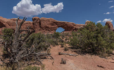 Photograph - Arches National Park North Window In Color  by John McGraw