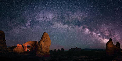 Digital Art - Arches National Park Panorama  by OLena Art Brand