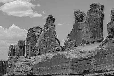 Photograph - Arches National Park Park Avenue Black And White by John McGraw