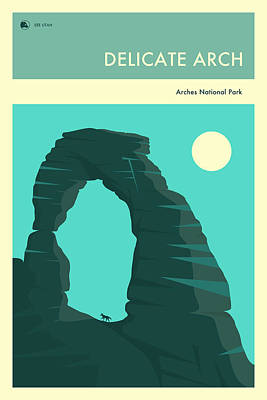 Delicate Arch Digital Art - Arches National Park Poster by Jazzberry Blue