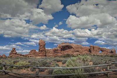 Photograph - Arches National Park Rock Formations by Randall Nyhof