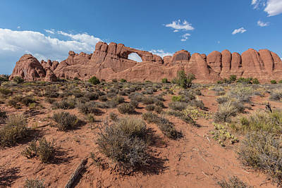Photograph - Arches National Park Skyline Arch by John McGraw
