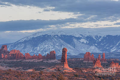 Photograph - Arches National Park, Sunset by Volker Ahrens