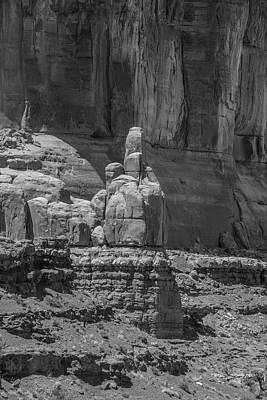 Photograph - Arches National Park The Finger Black And White  by John McGraw