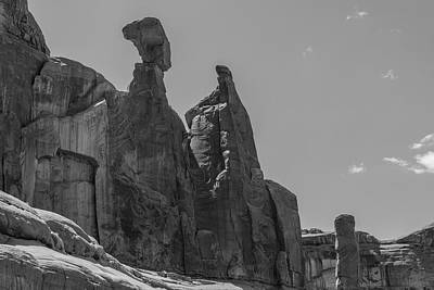Photograph - Arches National Park Top Black And White  by John McGraw