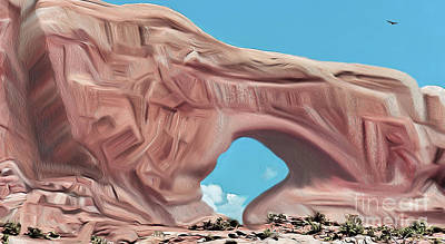 Digital Art - Arches National Park by Walter Colvin