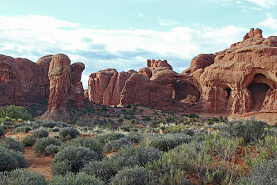 Photograph - Arches National Park Windows by Elizabeth Rose