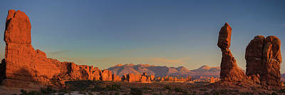 Photograph - Arches N.p. Sunset Panorama by Expressive Landscapes Fine Art Photography by Thom