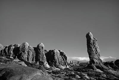 Photograph - Arches Np Xv Bw  by David Gordon