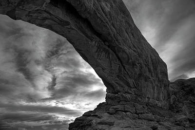Arches Np Xx Bw  Art Print by David Gordon