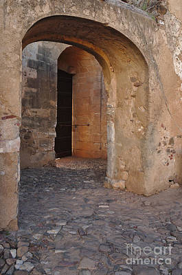 European Photograph - Arches Of A Medieval Castle Entrance In Algarve by Angelo DeVal