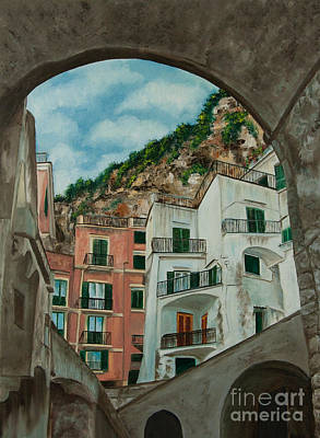 Stone Buildings Painting - Arches Of Italy by Charlotte Blanchard