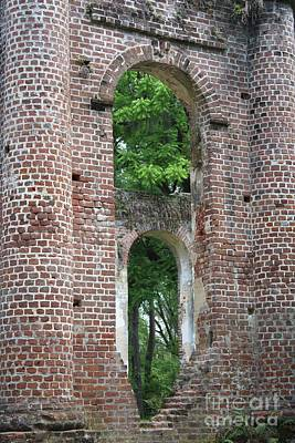 Civil War Site Photograph - Arches Of Old Sheldon Church Ruins by Carol Groenen