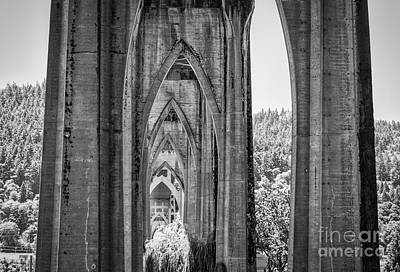 Photograph - Arches Of St. John's Bridge by Bruce Block
