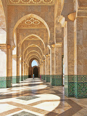 Photograph - Arches Of The Hassan II Mosque by Sandra Anderson