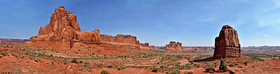Photograph - Arches Panoramic Two by Richard J Cassato