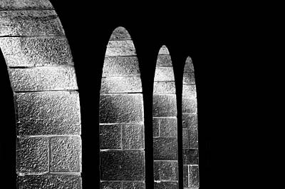 Arches Per Israel - Black And White Art Print by Deb Cohen