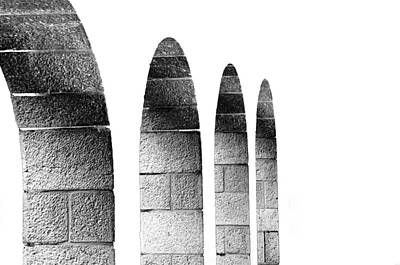Arches Per Israel - White And Black Art Print by Deb Cohen