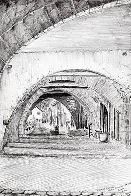 Wine Art Drawing - Arches Sauveterre France by Vincent Alexander Booth
