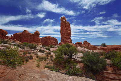 Photograph - Arches Scene 4 by Renee Hardison