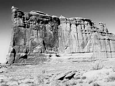 Photograph - Arches Wall Bw by Tim Richards