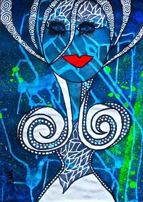 Archetype Painting - Ishtar - Goddess Of Integrity by Tetka Rhu