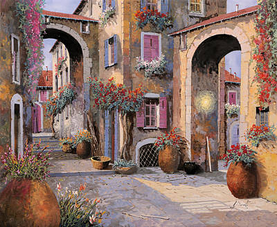 Violet Painting - Archi A Toni Viola by Guido Borelli