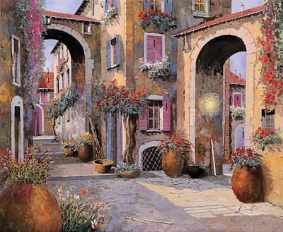 Archi A Toni Viola Art Print by Guido Borelli