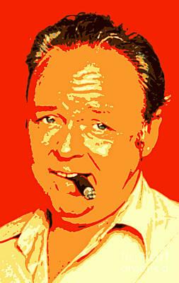 Archie Bunker Photograph - Archie Bunker Portrait by Pd