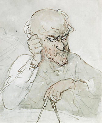 Drawing - Archimedes by Thomas Rowlandson