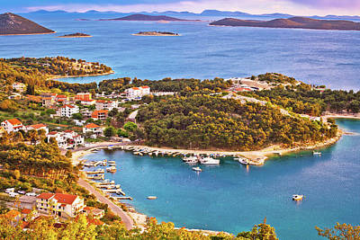 Photograph - Archipelago Of Dalmatia Aerial View by Brch Photography