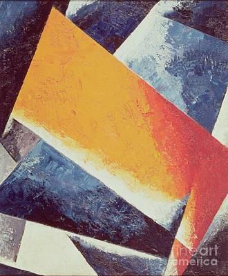 Futurism Painting - Architectonic Composition by Lyubov Sergeevna Popova