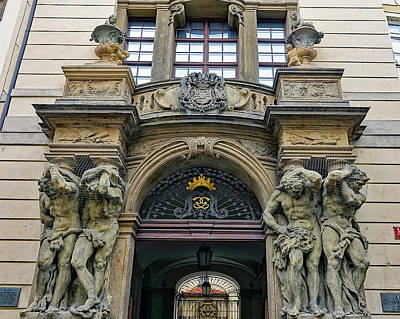 Photograph - Architectural Art In Prague by Richard Rosenshein