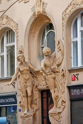 Photograph - Architectural Artwork In Prague by Richard Rosenshein