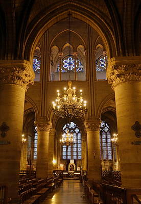 Architectural Artwork Within Notre Dame In Paris France Art Print