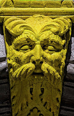 Photograph - Architectural Decoration - Face by Robert Ullmann